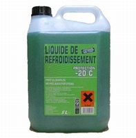 Liquide de Refroidissement Vert -20°C  5 litres